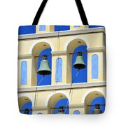 Santorini Bell Tower 2 Tote Bag