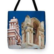 Santorini Bell Towers Tote Bag