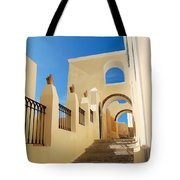 Santorini Catholic Cathedral  Tote Bag