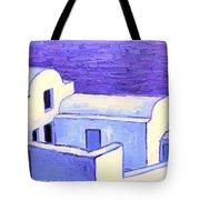 Santorini Houses Tote Bag