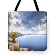 Santorini Island Tote Bag