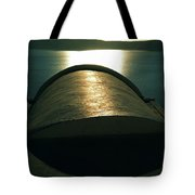 Santorini Lines By Night  Tote Bag