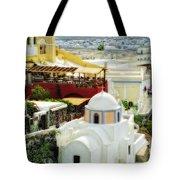 Santorini Overlook Tote Bag