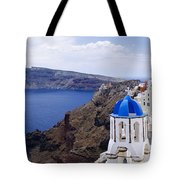 Santorini Panorama 2 Tote Bag