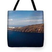 Santorini Panorama Tote Bag