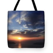 Santorini Sunset Cyclades Greece  Tote Bag
