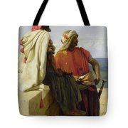 Saracens In Front Of Their Position Tote Bag by Wilfred Vincent Herbert