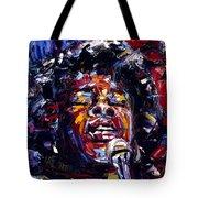 Sarah Vaughan Jazz Face Series Tote Bag
