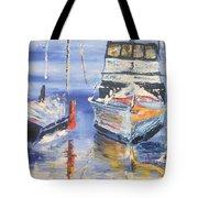 Sarasota Florida Marina Tote Bag