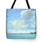 Sarasota Skyline From Sarasota Bay Tote Bag