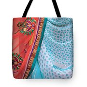 Saree In The Market Tote Bag