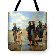 Sargent's En Route La Peche -- Setting Out To Fish Tote Bag
