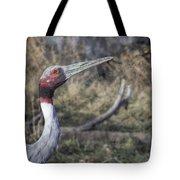 Sarus Crane Tote Bag