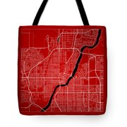 Saskatoon Street Map - Saskatoon Canada Road Map Art On Color Tote Bag