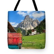 Sassongher Mount From Corvara Tote Bag