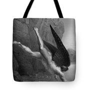 Satan Plunges Into The River Styx Tote Bag