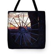 Satellite Sunset Tote Bag