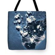 Satellite View Of Montserrat Island Tote Bag