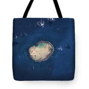 Satellite View Of Rocas Atoll In South Tote Bag