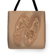 Satin Butterfly Tote Bag