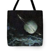 Saturn-y Tote Bag by Ayse Deniz