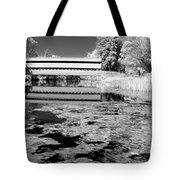 Saucks Bridge - Pond - Bw Tote Bag