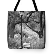 Savannah Afternoon - Black And White Tote Bag