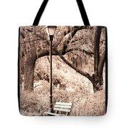 Savannah Bench Sepia Tote Bag by Carol Groenen