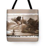 Savannah Fountain In Sepia Tote Bag