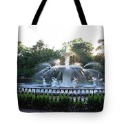 Savannah Georgia Forsyth Park Fountain Tote Bag