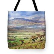 Savannah Landscape In Tanzania Tote Bag