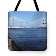 Savannah River Bridge Ga Tote Bag