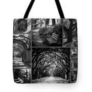 Savannah Shadows Collage Tote Bag