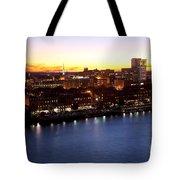 Savannah Skyline At Dusk Tote Bag