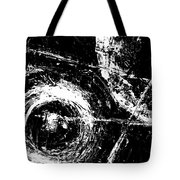 Save The Planet - Black And White -horizontal Formal -abstract By Laura Gomez Tote Bag