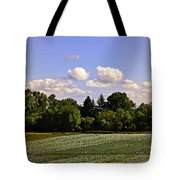 Savie Island Flower Garden Tote Bag
