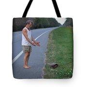 Saving The Turtle Tote Bag