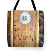 Sawmill Door Tote Bag