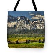Sawtooth Mountains Tote Bag