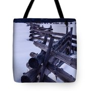 Sawtooth Sunset In Winter Tote Bag