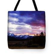 Sawtooth Sunset Panorama Tote Bag