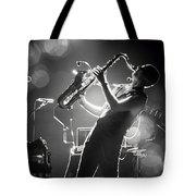 Sax In Black Tote Bag