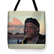 Sax In The City Tote Bag