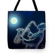 Sax-o-moon Tote Bag