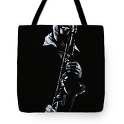 Sax Player Tote Bag