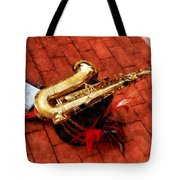 Saxophone Before The Parade Tote Bag