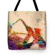 Saxophone  Tote Bag by Mark Ashkenazi