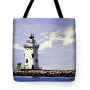 Saybrook Breakwater Lighthouse Old Saybrook Connecticut Tote Bag