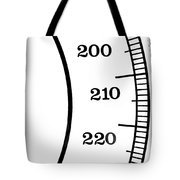 Scale Numbers Tote Bag