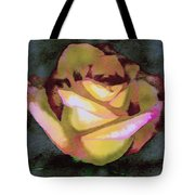 Scanned Rose Water Color Tote Bag